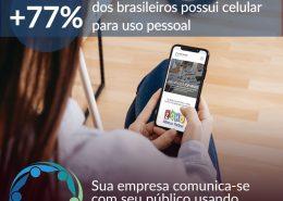 77 porcento dos brasileiros tem celular